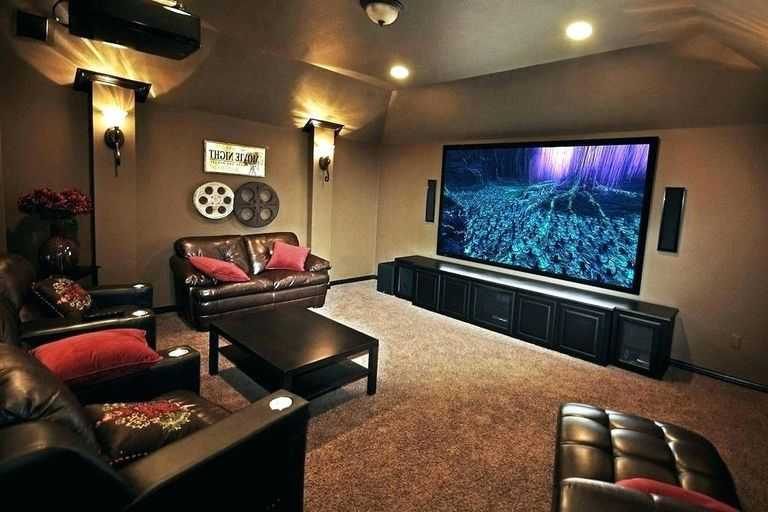 Custom Designed Movie Room in Houston