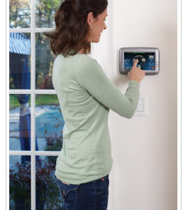 Modern Home Security Alarm System Keypad