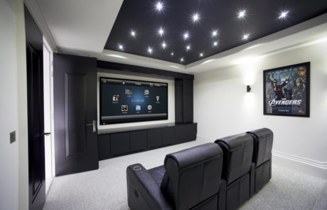 Small Home Theater with Control4 in Houston Texas